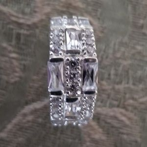 Sterling Silver Ring with Channel Set CZs!